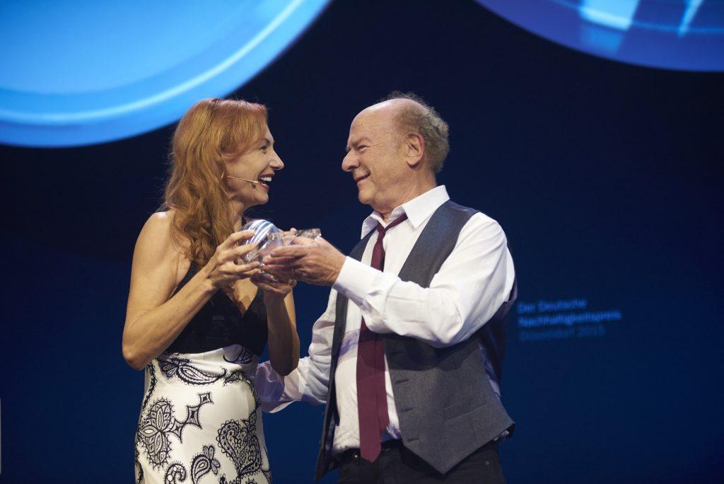 Foto Frank Fendler: Ute Lemper und Art Garfunkel beim Deutschen Nachhaltigkeitspreis 2015