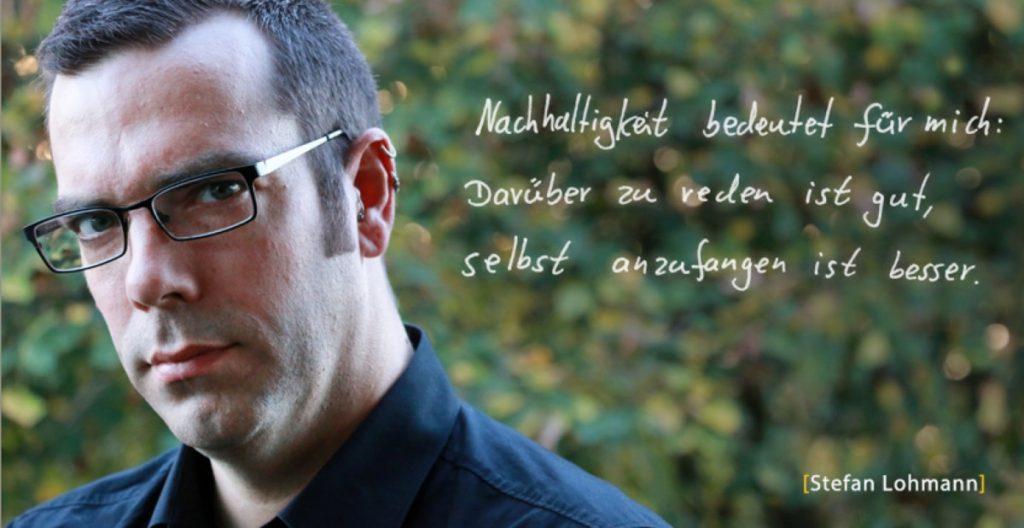 Stefan Lohmann Gesichter der Nachhaltigkeit