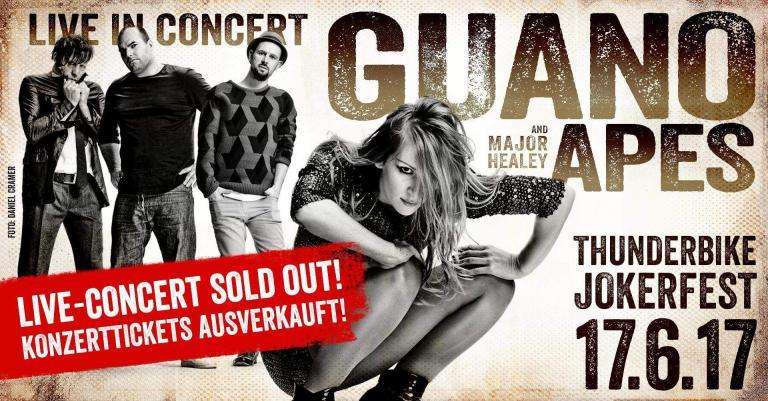 thunderbike Jokerfest sold out mit guano apes