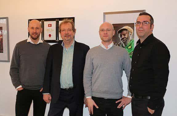 v.l.n.r. Sascha Lafeld, Jens Michow, Lasse (LEA), Stefan Lohmann
