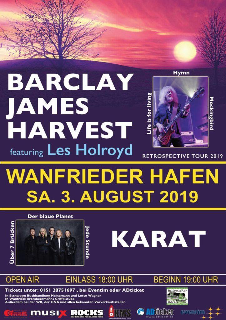 Wanfrieder Hafen Open Air mit Barclay James Harvest und Karat