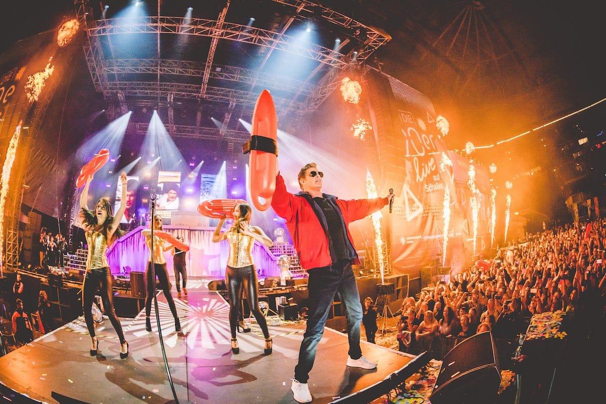 david hasselhoff 90er live party schalke