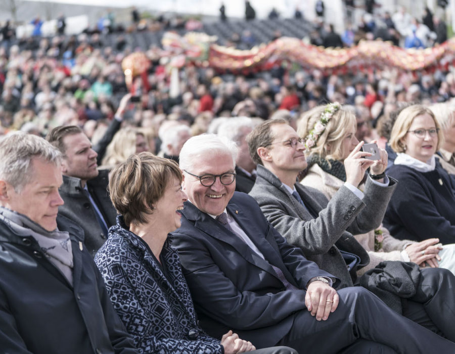 Live Entertainment - Bürgerfest zur Eröffnung der IGA 2017 in Berlin am 13.04.2017 mit Bundespräsident Frank-Walter Steinmeier