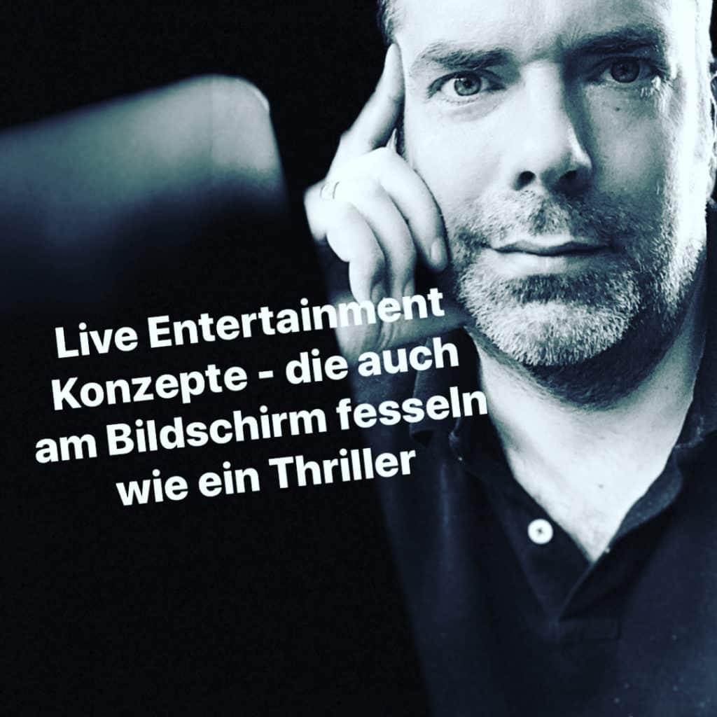 Stefan Lohmann Live Entertainment Experte - virtuelle Hauptversammlung, Digitala Lösungen